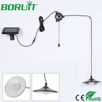 BORUiT Garden Solar Lamp Retro Solar Powered LED Rope Pendant Light for Indoor Kitchen Remote Control Hanging Lamp Energy Saving