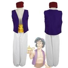 S-XXL Adult Aladdin Lamp Prince Costume Halloween Anime Cosplay Fancy Dress Adam prince Costumes