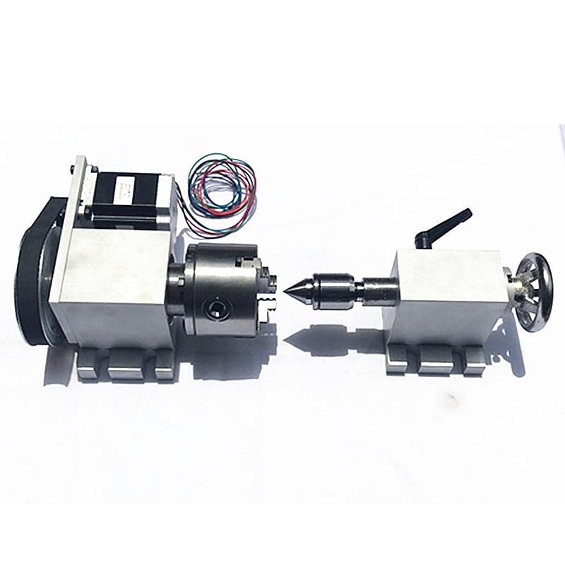 CNC dividing head Chuck 80mm CNC 4th axis A aixs rotary axis Center height 65MM цены