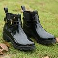 Mujeres Lluvia Botas Para Niñas Señoras Que Caminan Ocasionales Al Aire Libre de aves de Caza Impermeable Tobillo Rainboots De Goma de alta calidad