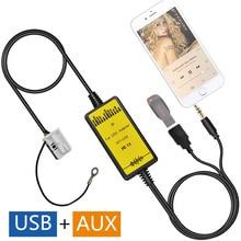 Fábrica OEM Radio MP3 WMA de Música USB Adaptador de Interfaz de Audio Auxiliar para Skoda Octavia SuperB Seat Leon Altea Quadlock 12 P