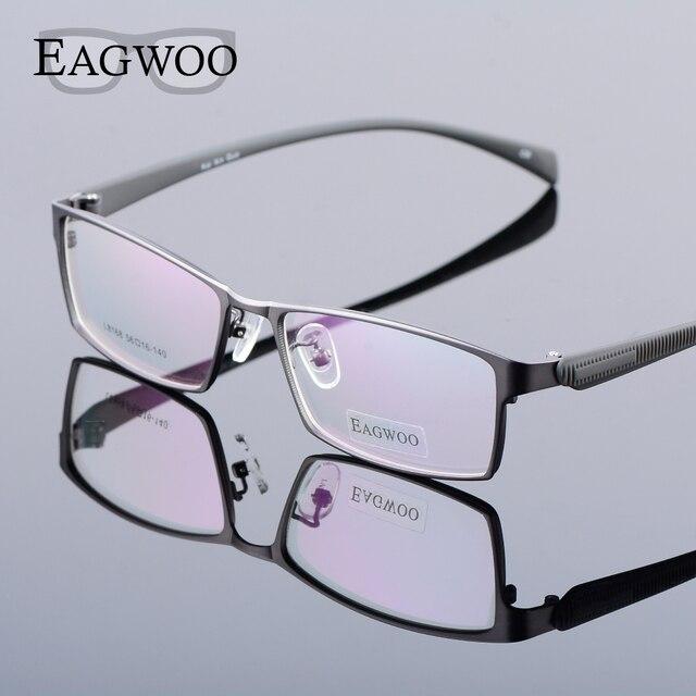 bc6d3cc1f5428 Eagwoo Grande Armação de óculos Homens Frame Ótico Aro Completo com  Silicone Macio dos Homens do