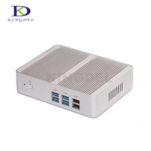 Самая низкая цена Intel Celeron N3150 Quad core Безвентиляторный мини настольный компьютер с двойной LAN небольшой Размеры SSD High Скорость неттоп ПК