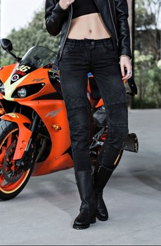 UGLYBROS Guardian ubp09 motorcycle jeans / racing riding jeans / fashion lady 2 color black blue jeans