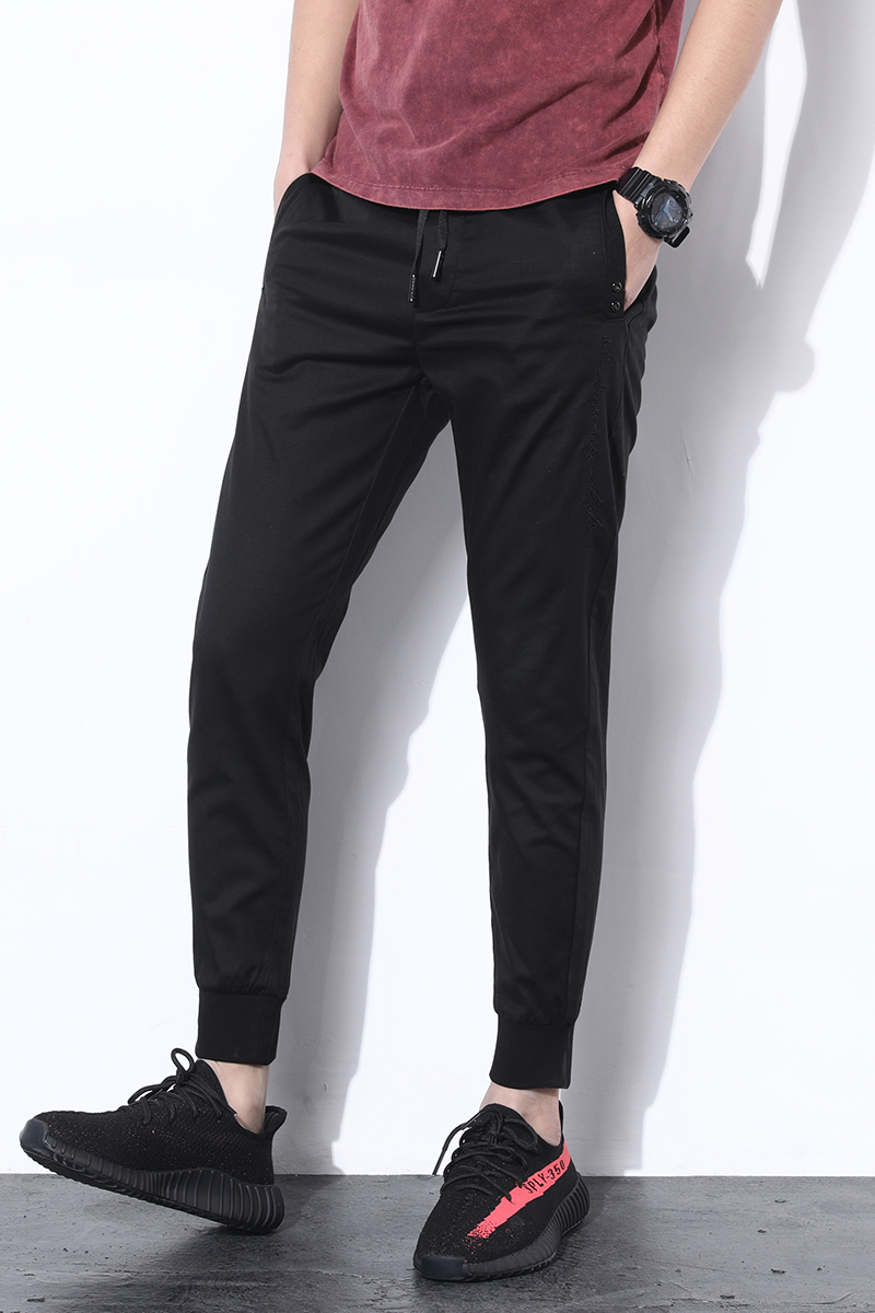 KAFX 2018 new fashion Mens Casual Pants high quality Brand Work Pants male Clothing Cotton Formal Trousers men size 36 38