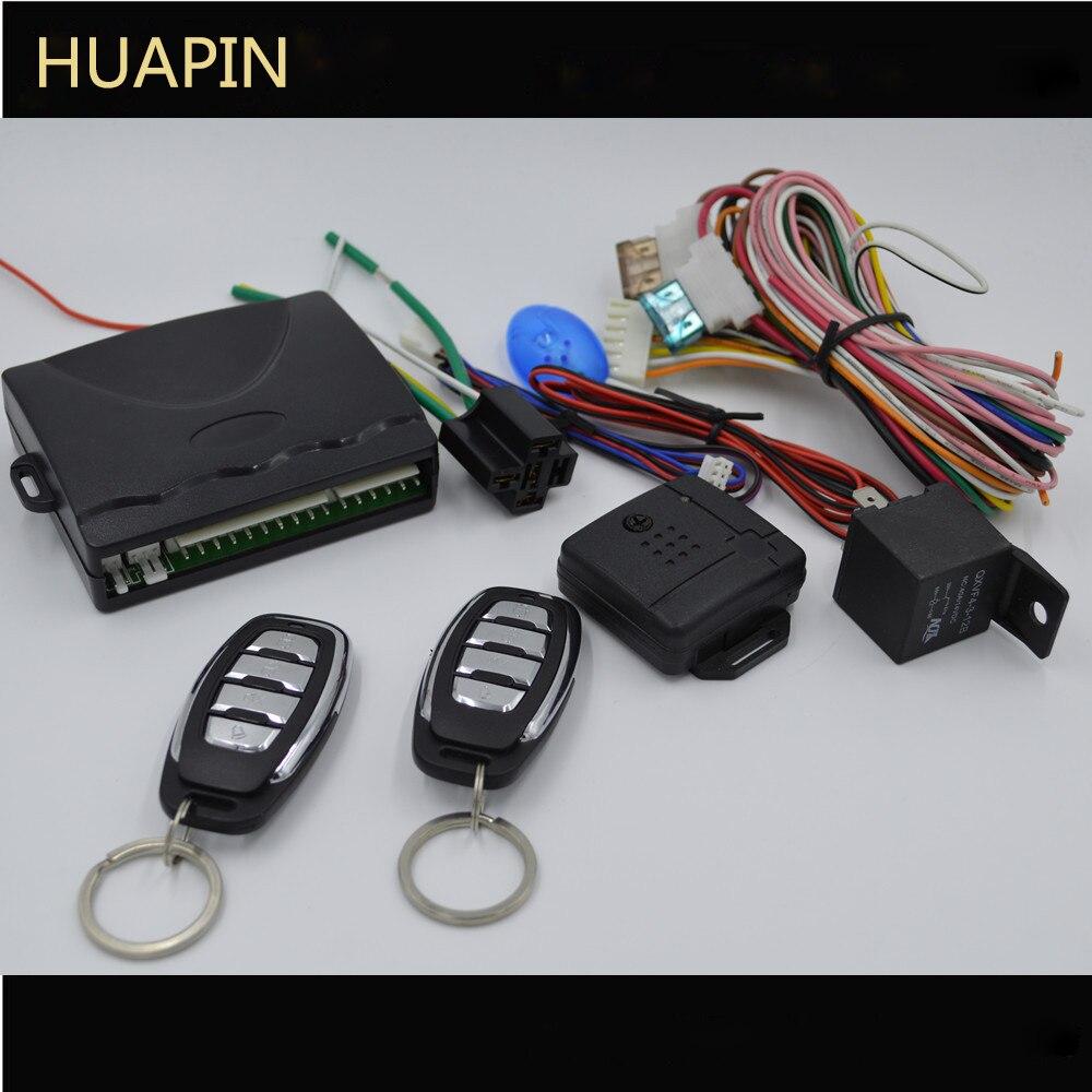 Systèmes d'alarme de voiture universels PKE système d'arrêt de démarrage sans clé à distance de sécurité de porte centrale automatique avec 2 télécommandes