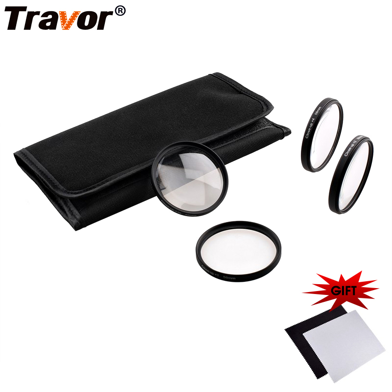 Travor Camera Accessories Camera Filter various sizes Macro Close Up Filter Lens Kit+1+2+4+10 For Canon EOS 700D 650D 600D Rebel