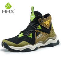 RAX Mens Hiking Shoes High Top Mountain Hiking Boots Men Breathable Trekking Shoes Outdoor Man Climbing Sneakers D0761