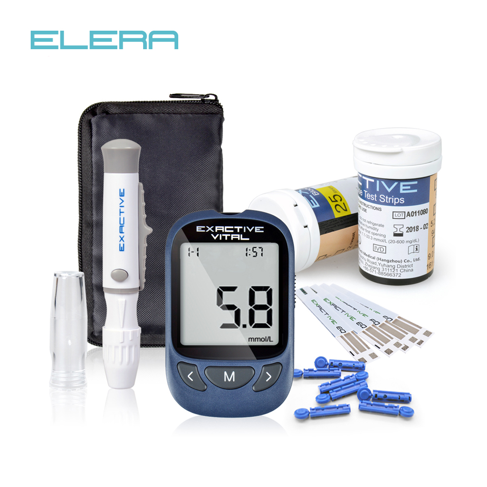 MICROTECH MEDICAL Blood Glucose Meters Accessories Diabetics Test Glycuresis Monitor Accessory 50strips Needles Blood Sugar BG3