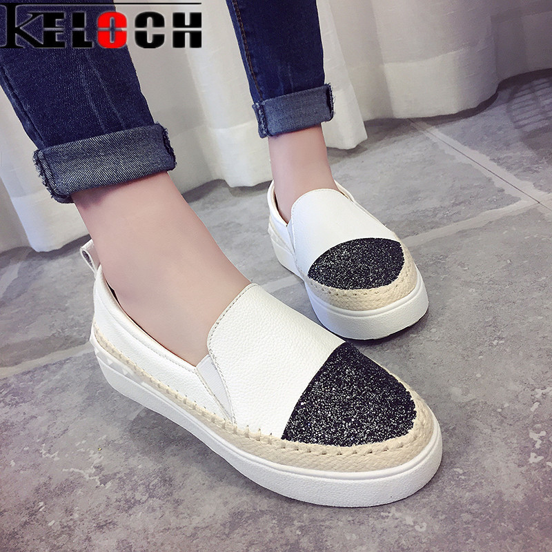 Keloch Spring High Quality Women Leather Loafers Casual Flats Shoes Woman Slip On Female Shoes Moccasins slipony zapatos mujer hot high quality men loafers leather round toe slip on casual shoes man flats driving shoes hombre zapatos comfortable moccasins