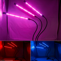 RGB5050 LED Grow Light DC5V USB Plant three-head smart color timing clip Growth Lamp For Vegetable Flower Plant Greenhouse