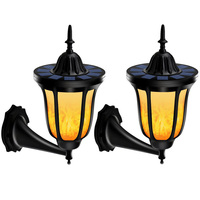 2pcs LED Solar Light Garden Decoration 96 LEDs Solar Torches Flickering Flames Waterproof Outdoor Wall Lamp
