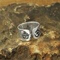 Alloy Custom anel Estar agora aqui Mensagem Secreta, anel de yoga, budda, martelado anel de banda larga, personalizável anel buddha