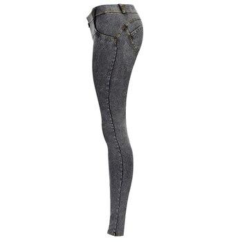 Sexy Low Waist Jeans Woman Peach Push Up Hip Skinny Denim Pant  Boyfriend Jean For Women Elastic Leggings grey Jeans Plus Size 3