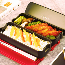Hot Sale 2 layer Bento Lunch Box for Kids Food Container Food Tableware 850ML