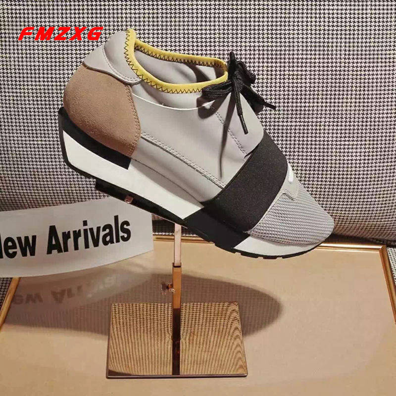 FMZXG Women Mesh Sneakers Shoes Flats Casual Spring/Autum Woman Luxury Brand Platform Genuine Leathe Lovers Espadrilles Shoes instantarts women flats emoji face smile pattern summer air mesh beach flat shoes for youth girls mujer casual light sneakers