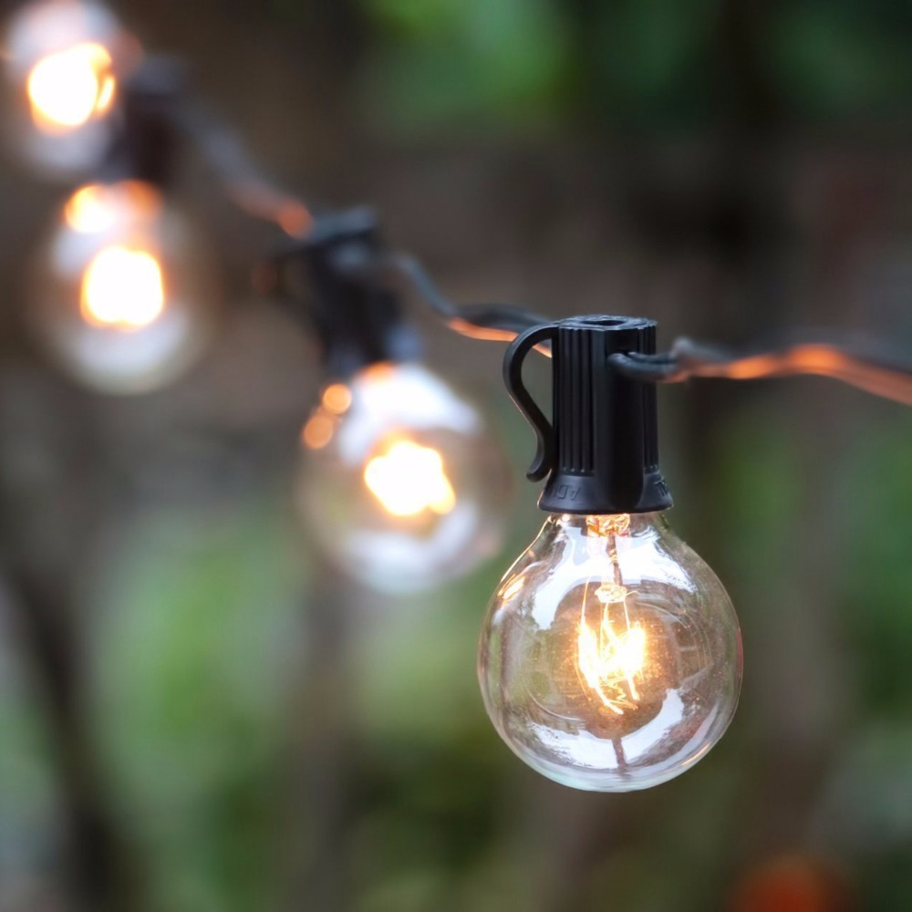 G40 string lights with 25 g40 clear globe bulbs listed for indoor g40 string lights with 25 g40 clear globe bulbs listed for indooroutdoor vintage backyard wedding decoration string lights in lighting strings from lights audiocablefo