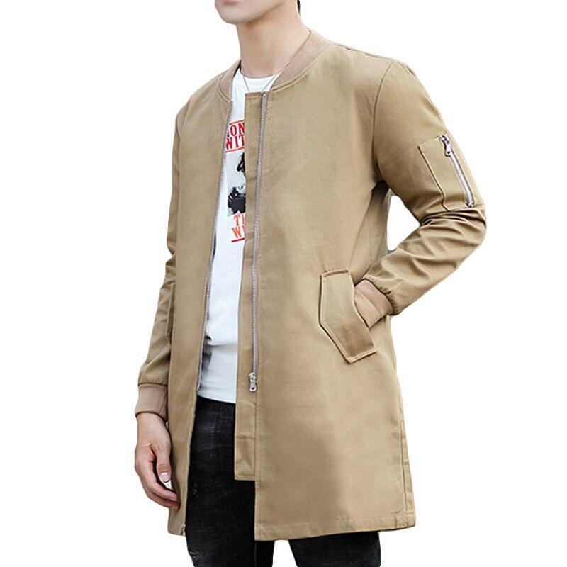Hommes de qualité supérieure automne manteaux longs 2018 vapeur punk tranchée manteau cardigan hommes manteau long homme taille asie streetwear 5XL TR05