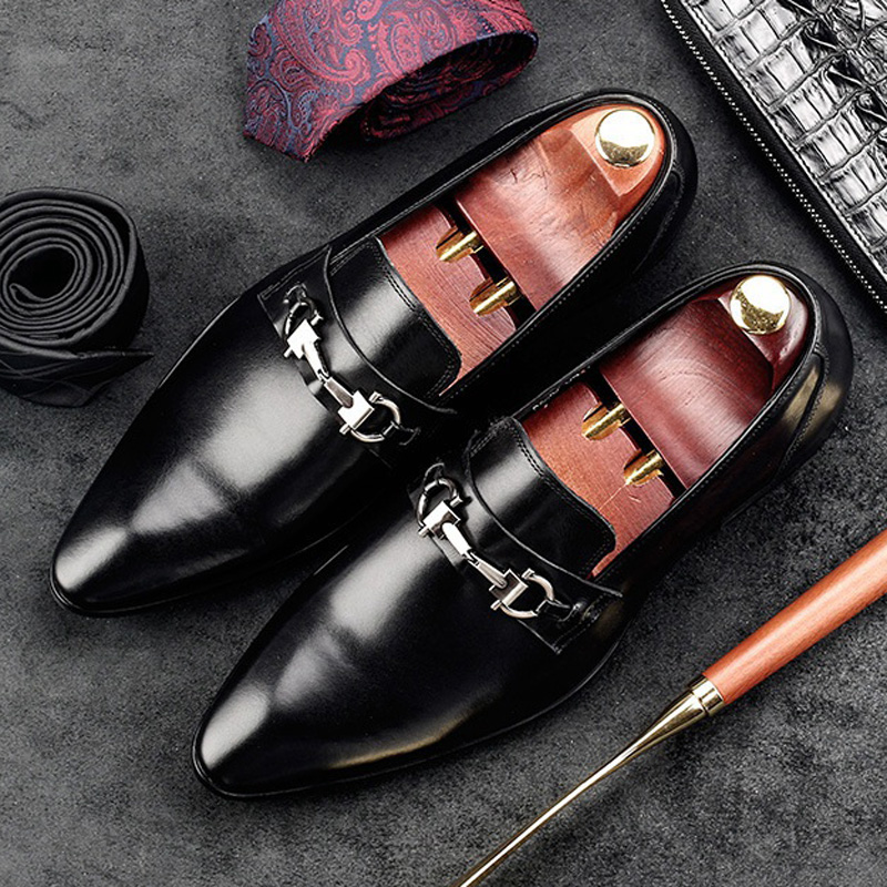 2017 Hot Sales Italian Designer Man Casual Shoes Genuine Leather Height Increasing Loafers Pointed Men s