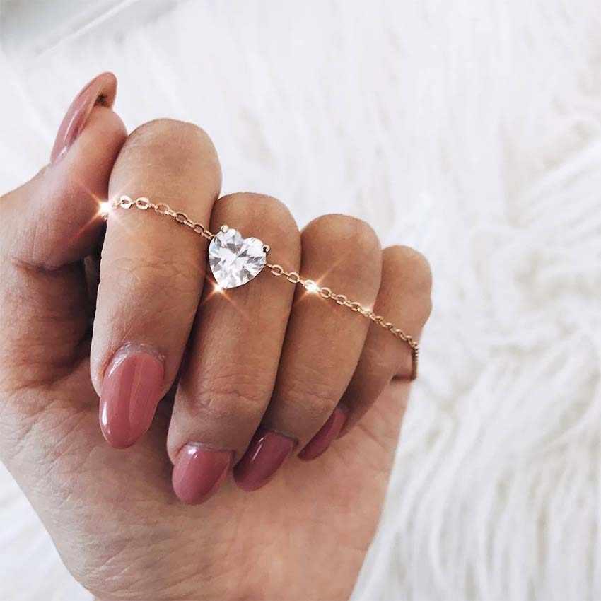 2019 ใหม่ผู้หญิง choker คริสตัล love heart สร้อยคอ choker สร้อยคอเครื่องประดับ collana Kolye Bijoux Collares Mujer Collier Femme joyas