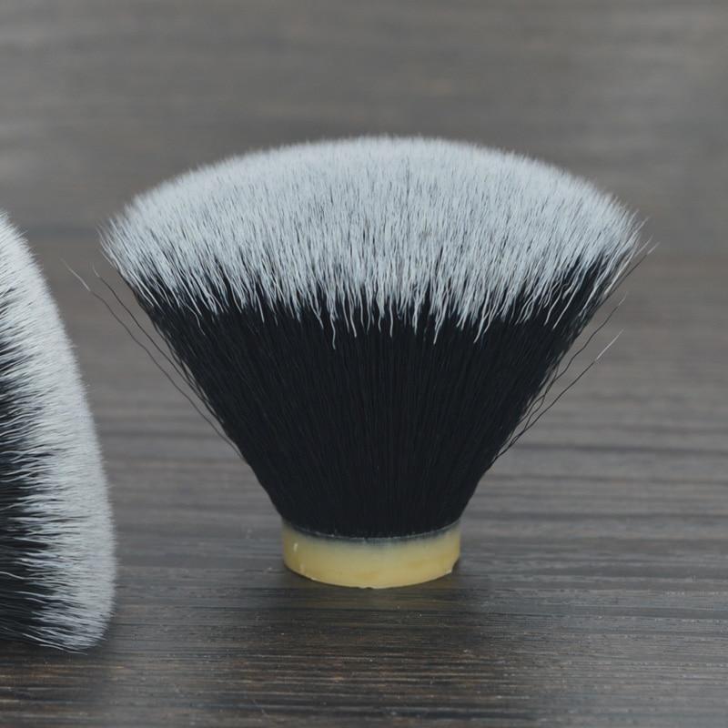 DSCOSMETIC 24MM Black Flat Top Synthetic Hair Shaving Brush Knots For Man DIY Shaving Brush Beard Head Fit Brush Handle