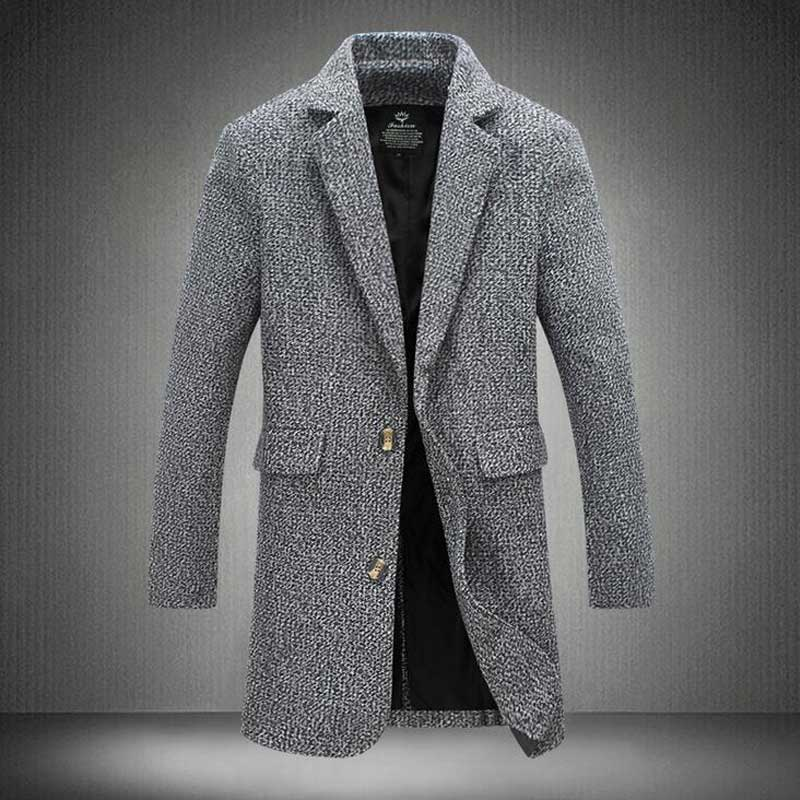 buy trench coat men fashion england style manteau homme man 39 s single breasted. Black Bedroom Furniture Sets. Home Design Ideas