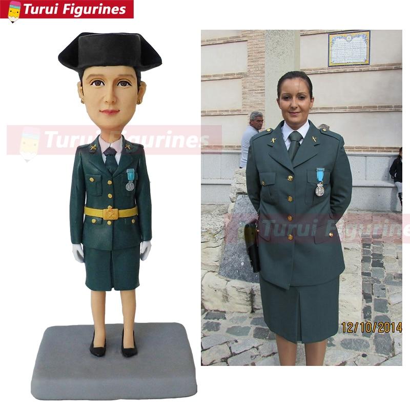 Lady Soldier Flight Attendant Customized Figurines Miniature Sculpted By Hand Figurine Minecraft Disney Figure Handmade Cartoon