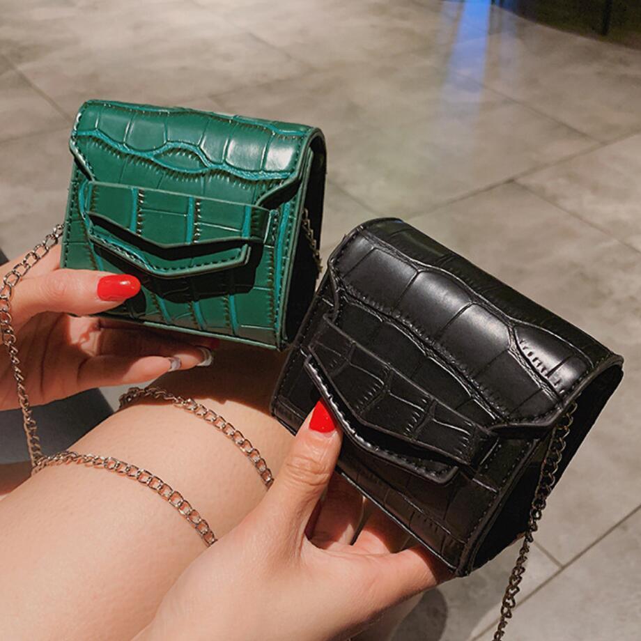 Маленькая квадратная мини сумка 2019, летняя модная новинка, качественная женская сумка из искусственной кожи, сумка через плечо с крокодиловым узором и цепочкой