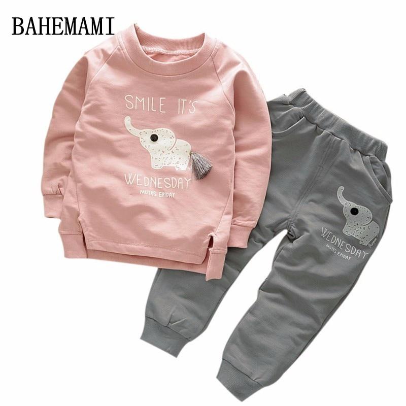 BAHEMAMI 2018 Baby Jungen Mädchen kleidung set Mode Sport Kleidung Kinder 2-pc Jungen Kleidung Set Mädchen Kleidung Anzug jungen kleidung