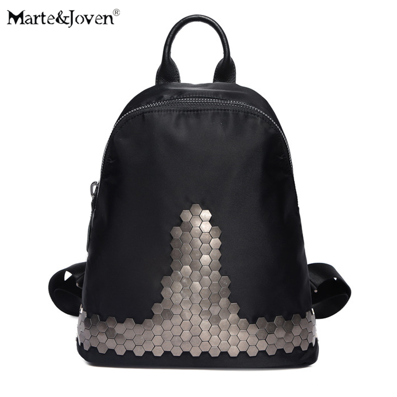 High Quality Waterproof Rucksacks Vintage Personality Rivet Women Backpacks Brand Designer Girl Black Shoulder Bags Schoolbags high quality iron wire frame sun glasses women retro vintage 51mm round sn2180 men women brand designer lunettes oculos de sol