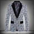 Nova moda primavera roupas grade marca Blazer homens casuais terno dos homens Blazers Slim Fit One Button homens paletó frete grátis