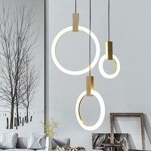 Wood Pendant Acrylic LED Ring Pendant Light For Dinning Room Restaurant Kitchen Light LED Pendant Lamp luminaire lamparas цены