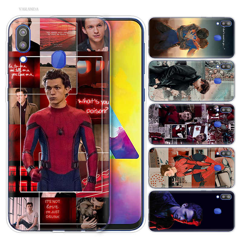 Funda Vintage impresa Tom Holland para Samsung Galaxy S9 S8 S7 S6 Note 9 8 A6S A8S A8 Star A9 A7 Edge Plus 2018 funda para teléfono