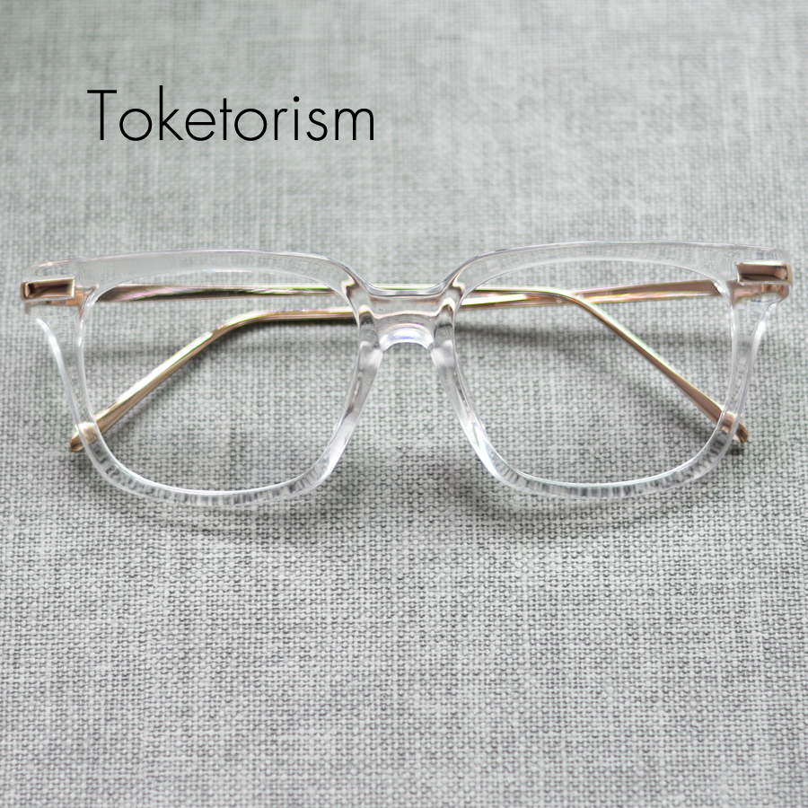 Toketorism New hot gold glasses frames super vintage eyeglasses frame women and men 2408