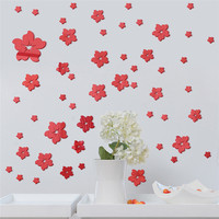 52pcs/set 3D Acrylic Mirror Wall Decals Art TV Background Wall Decorative Stickers Mural Kids Rooms DIY Muurstickers Home Decor