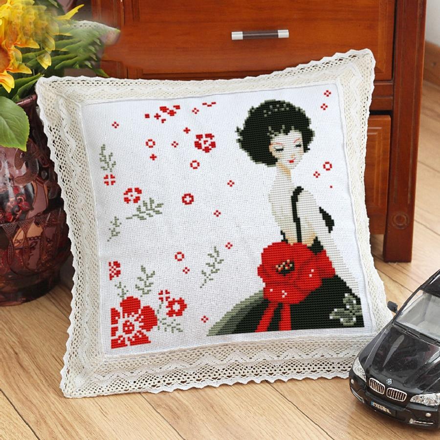 Divertido cojines decorativos dise os de bordado interior - Cojines de diseno ...