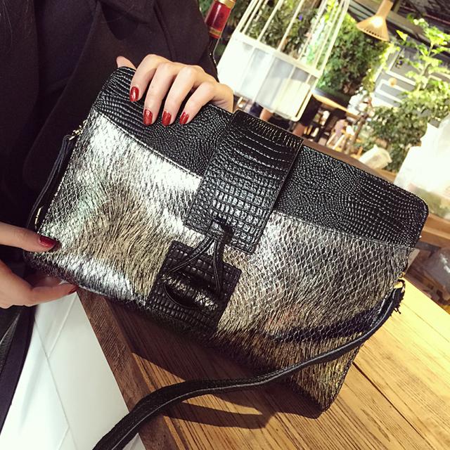 Crocodile Envelope Shoulder Bag