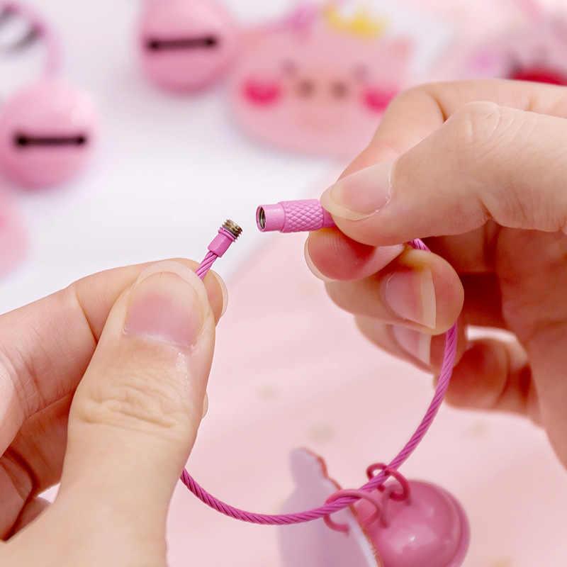 2019 Nova Criativa Dos Desenhos Animados Porco chaveiro Pingente tema rosa Do Favor de Partido Presentes chave anel Chave anel de Decoração para Festa de meninas por atacado