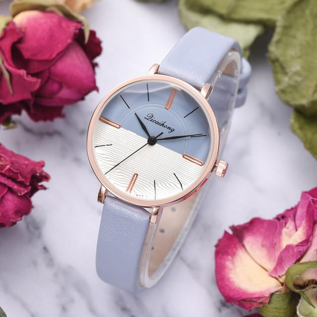 Duobla Fashion Quartz Ladies Convex Glass Leather women Watches High Quality Clock Minimalist Wristwatch relogio feminino 30Q