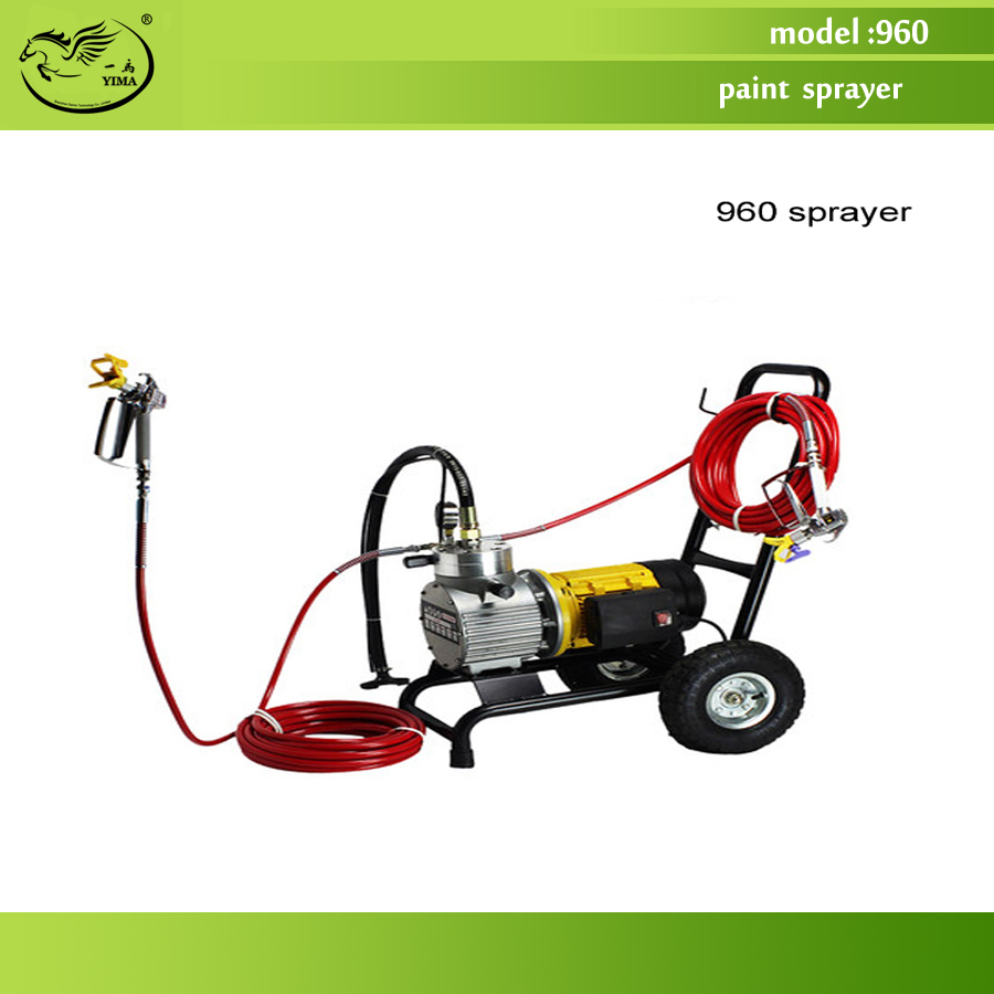 960 model Electric High Pressure Airless Paint Sprayer , Painting Machine, 12L flow,with double spray gun professional piston airless portable power airless electric paint sprayer with spray gun painting machine f4500