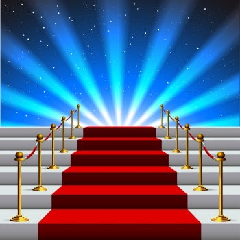 Laeacco Stage Red Carpet Backdrops Staircase Superstar Spotlight Baby Birthday Party Photo Backgrounds Photocall Photo Studio