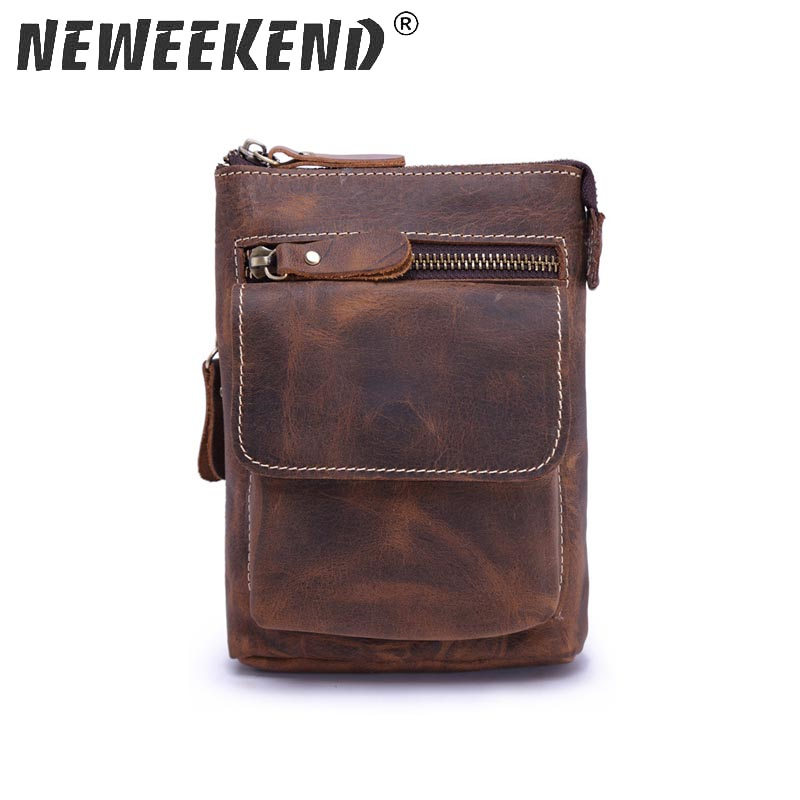 Vintage Genuine Leather Casual Multi-functions Bag Men's Leg Bum Hip Waist Pack Belt Phone Organizer Shoulder Messenger Bag 1127