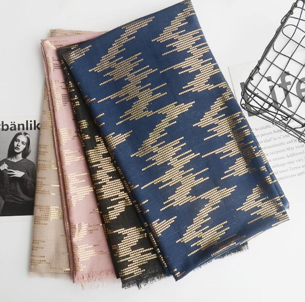H1 new fashion women scarves shinny glitter scarf plain cotton muslim hijab/ shawls 10pcs 1lot 180 *90cm hot sale big discont