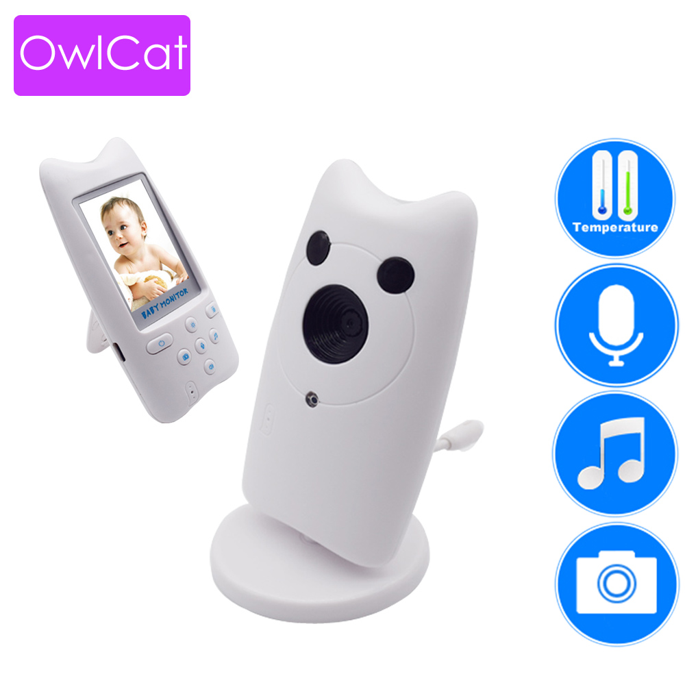 2 4 inch Wireless Audio Video Color LCD Baby Monitor Nanny Portable Security Baby Camera Babysitter