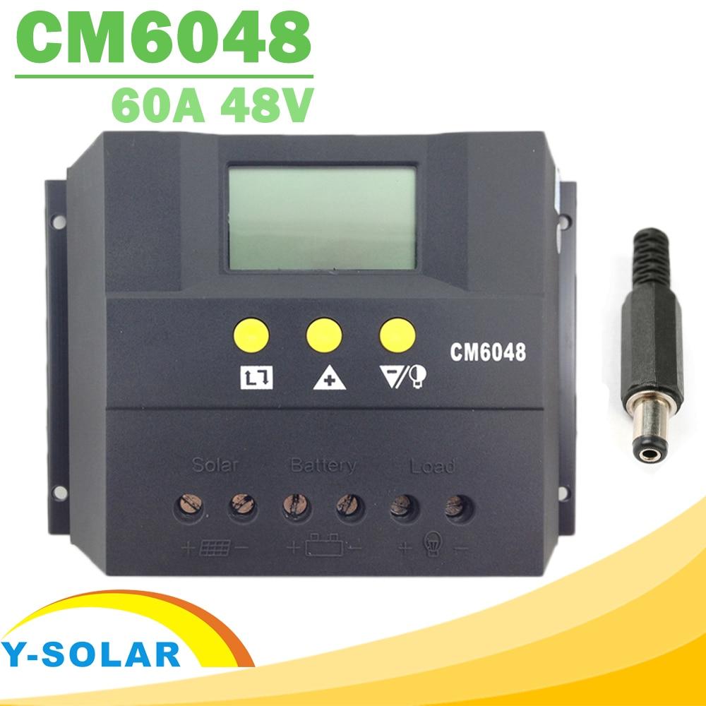 60A Solar Battery Charge Discharge Controller 12V 12V 48V LCD Voltage Settable Solar Regulator PWM Display