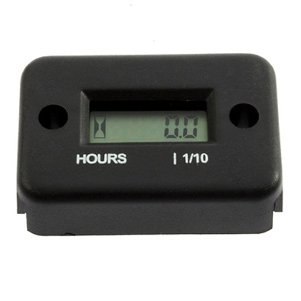 2017 New Inductive Digital Hour Meter Waterproof LCD Display for Bike Motorcycle ATV Snowmobile Marine Boat Ski Dirt Gas Engine resettable inductive tacho hour volt meter for motorcycle snowmobile atv utv jet ski dirt bike marine pit bike tractor go kart