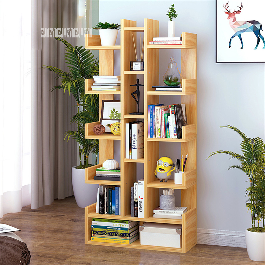 SG271546 Land Creative Bookcase Simple Modern Students Bedroom Simple Bookshelf Economy Display Cabinet Living Room Storage Rack|Bookcases| |  - title=