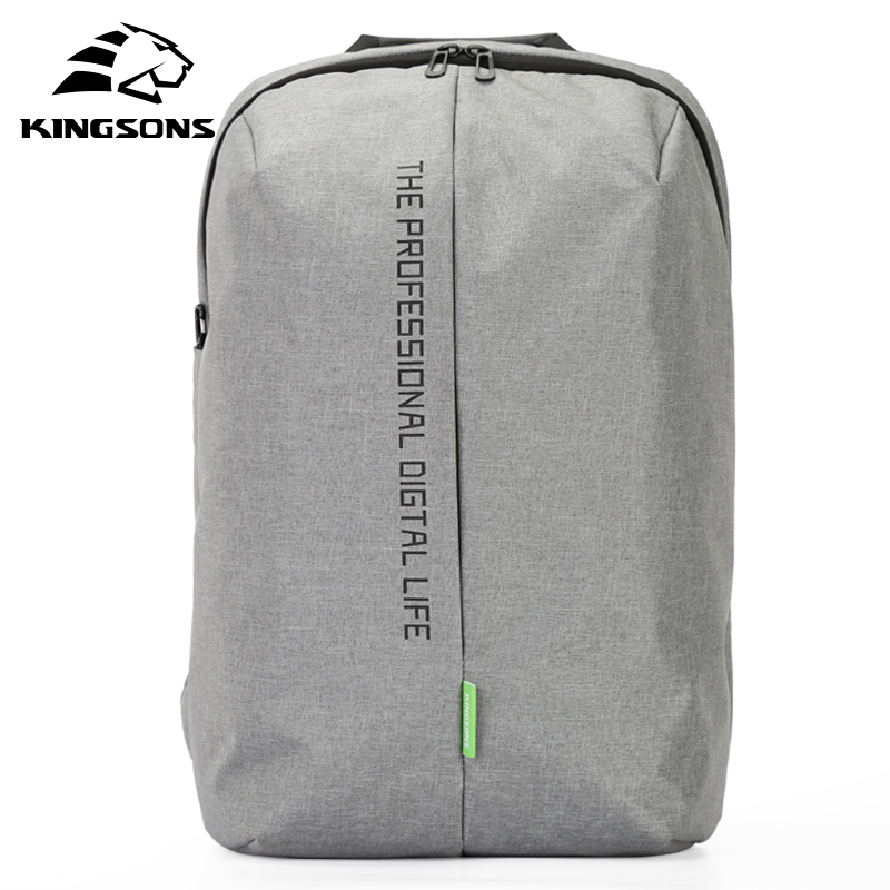 Kingsons Brand Polyester Unisex Laptop Backpack 15.6 inch Notebook Computer Bag Fashion Style Zipper School Backpack KS3123W kingsons brand waterproof men women laptop backpack 15 6 inch notebook computer bag korean style school backpacks for boys girl
