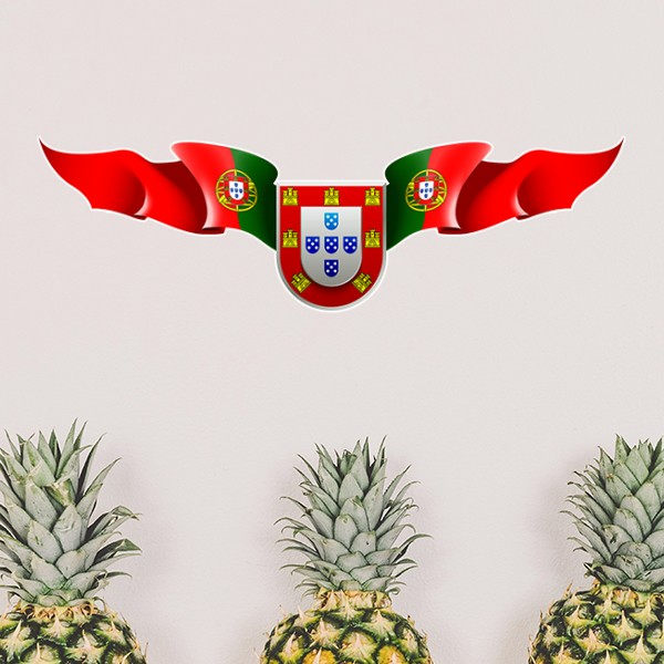 Portugal National Emblem Country Symbol Mark Pattern Removable Wall Sticker Art Decals Mural DIY Wallpaper for Room Decal in Wall Stickers from Home Garden