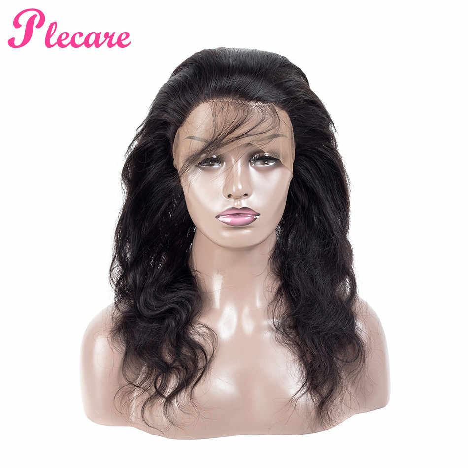 Plecare 360 Lace Frontal Closure Brazilian Body Wave Frontal With Baby Hair 100% Non Remy Human Hair Lace Closure Free Part